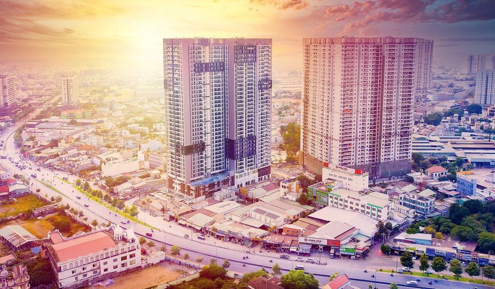 Dự án Opal Boulevard nằm trên tuyến đại lộ Phạm Văn Đồng, có quy mô hai tòa tháp 36 tầng