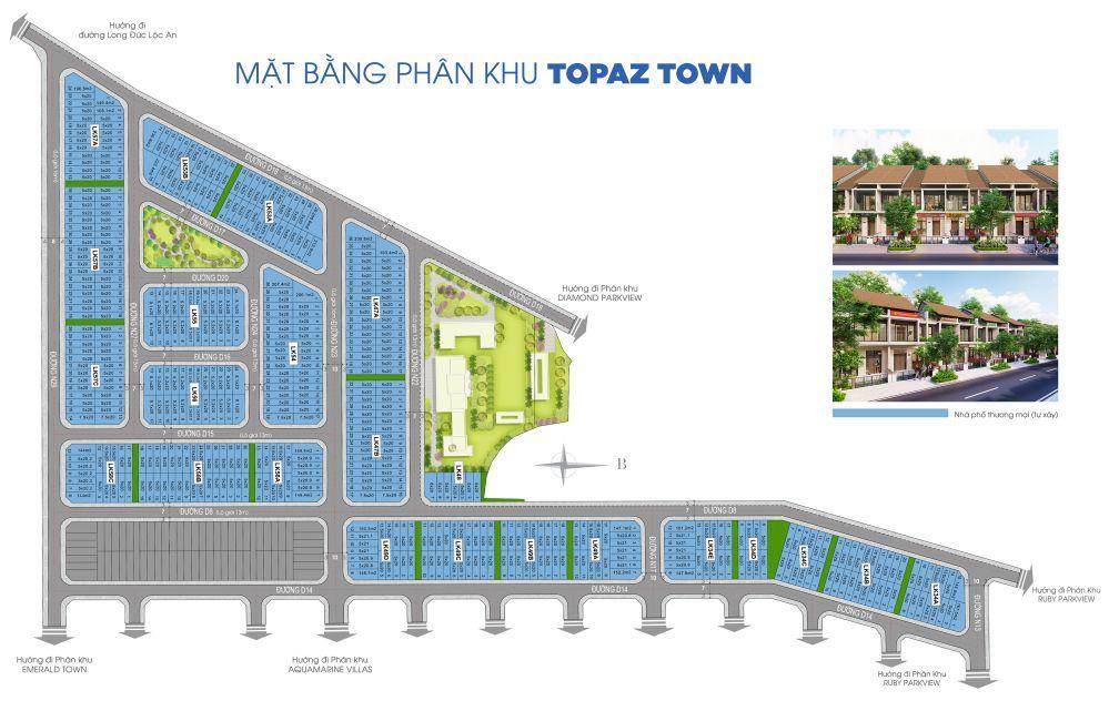 Mặt bằng Topaz mở rộng dự án Gem Sky World Long Thành Đất Xanh