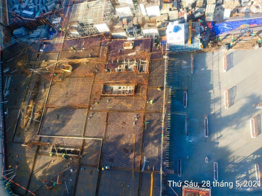 Tiến độ công trình dự án Opal Skyline tháng 5-2021
