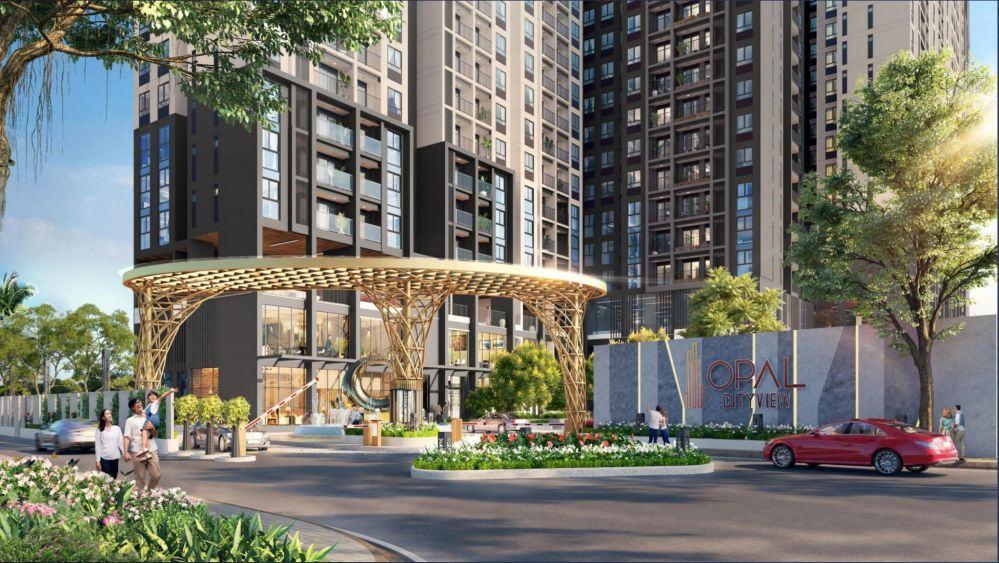 Cổng chào dự án căn hộ Opal Cityview Bình Dương